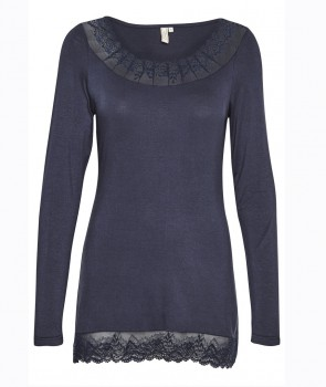 FLORENCE Top Manches Longues - Bleu navy