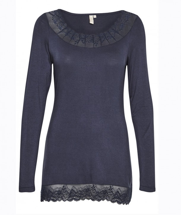 FLORENCE LS Top - Bleu navy