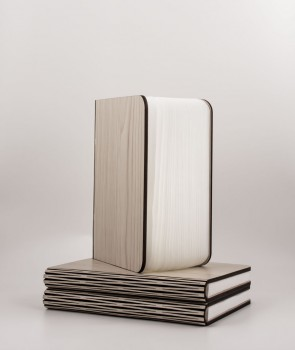 Lampe livre en bois d'érable clair - Oobook