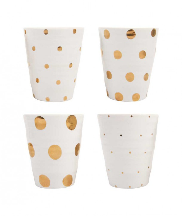 Set de 4 Mugs Or - Klevering