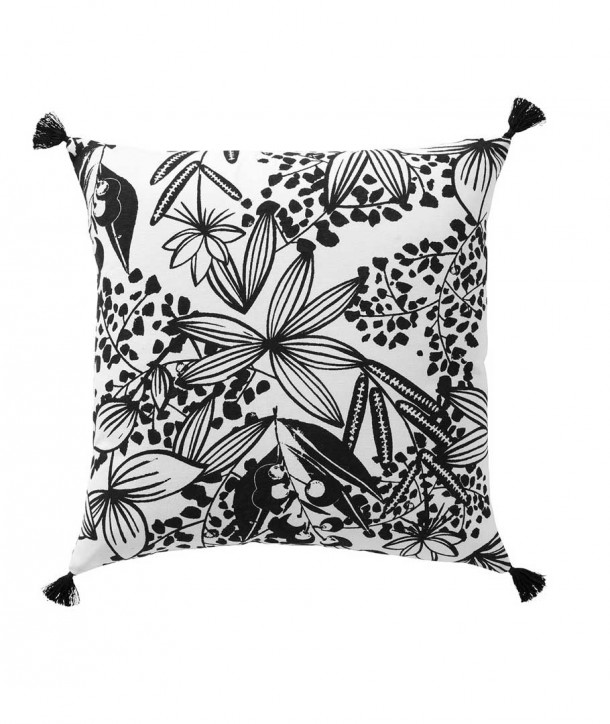 Coussin JUNGLE Carré en Coton Imprimé- Lazare Home