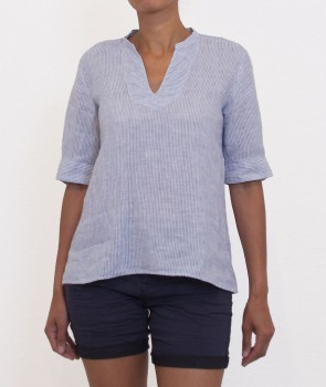 HYDRA Top Chambray bleu ciel