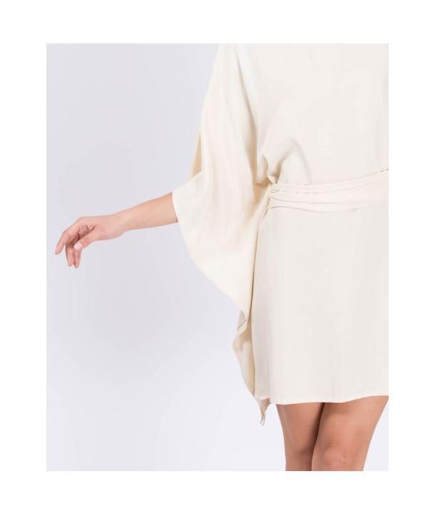 KIMONO Robe courte - Soja milk