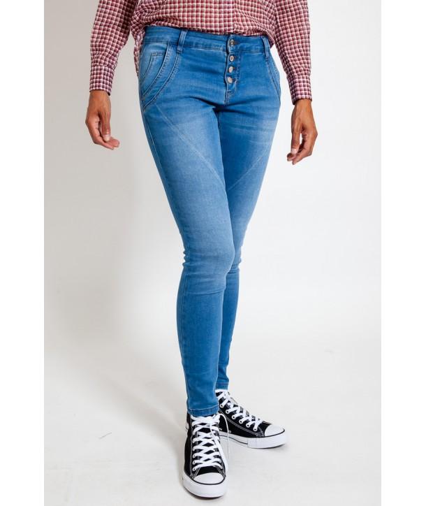BAILEY POWER Jean stretch - Bleu jean clair