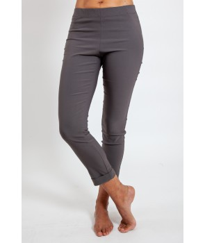PIANO Pantalon en viscose stretch confort - Gris minéral