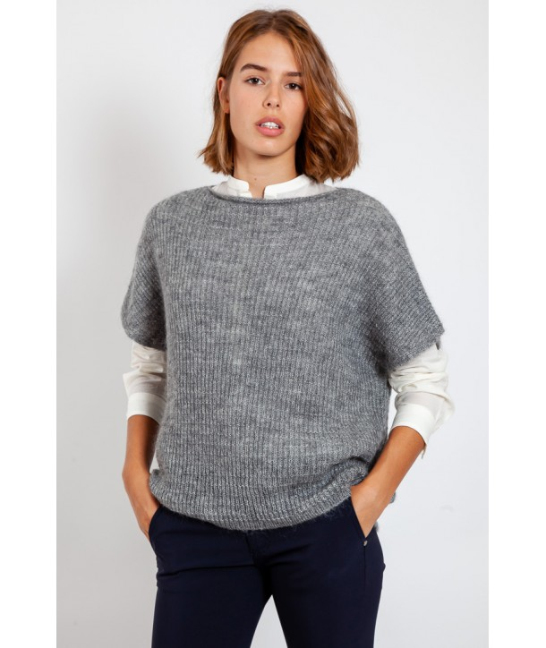 OLIVER Pull sans manche - Silver