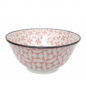 BOL PORCELAINE GEO ECLECTIC TAYO ROSE 15X6,7 CM