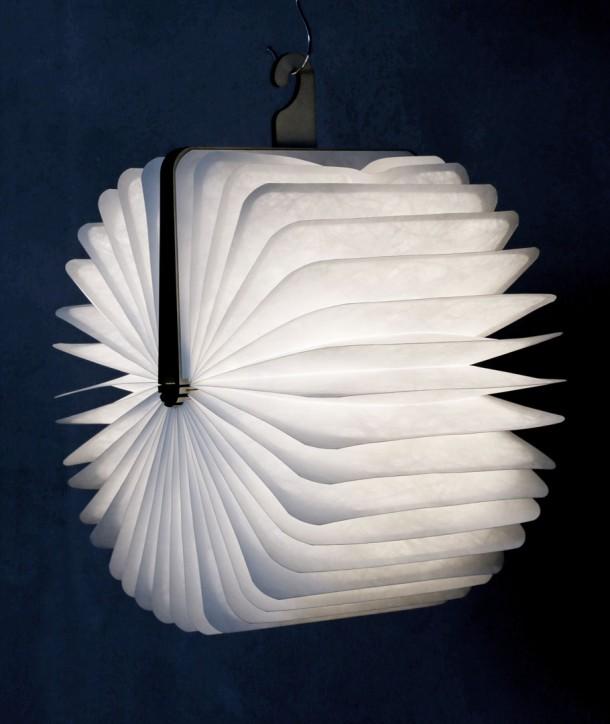 Lampe livre bois clair - Oobook