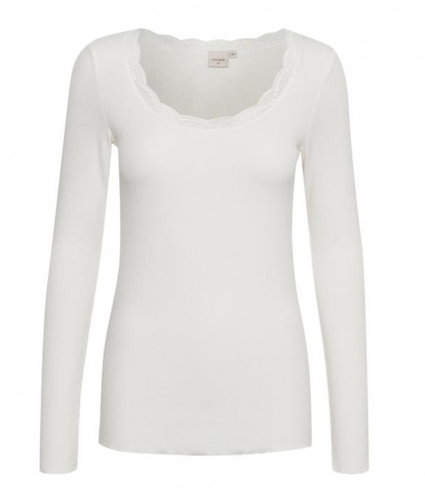 VANESSA Top Manches Longues - Chalk