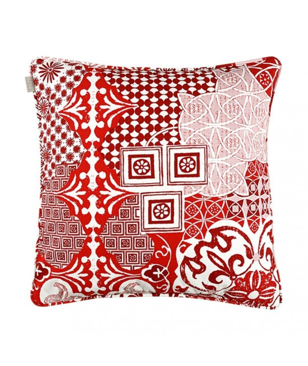 mosaique housse de coussin 50x50 cm d74 rouge linum. Black Bedroom Furniture Sets. Home Design Ideas