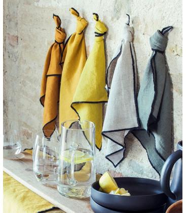 Sets de table en lin stoné LURI - Par 6 - 12 coloris - Harmony