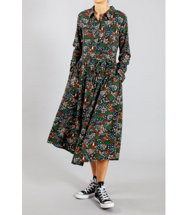 MIRANDA Robe imprimée Green fox