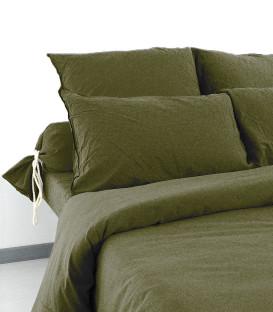 Taies d'oreiller et de traversin en Coton lavé froissé - Palace - 15 coloris - Vent du Sud