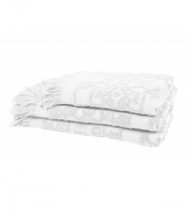 Serviette Éponge SUMATRA couleur Blanc - Harmony
