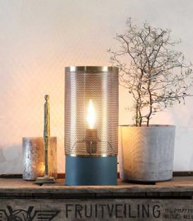 Lampe à poser ALMA Bleu Mat et Laiton - Red Cartel