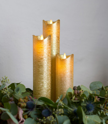 Bougie Led SARA Slim Exclusive Gold taille S.