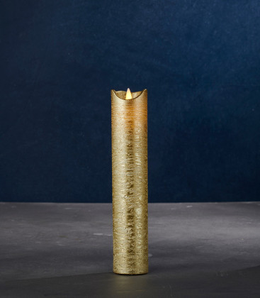 Bougie Led SARA Slim Exclusive Gold taille L.