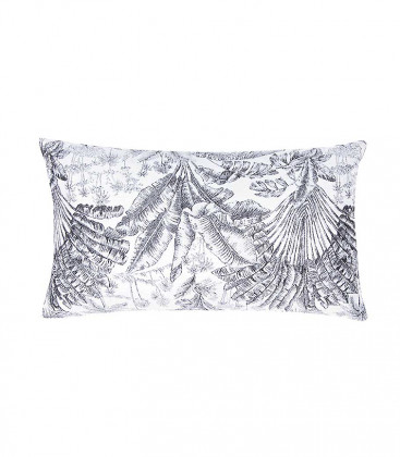 Coussin Jaquard ANGKOR Anthracite - 3 dim - Lazare Home