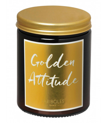 Bougie Fariboles Gold Golden Attitude 140g - Feu de bois