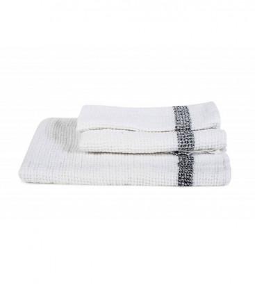 Serviette Éponge 100% Lin Nid d'Abeille TIMIKA couleur Blanc - Harmony