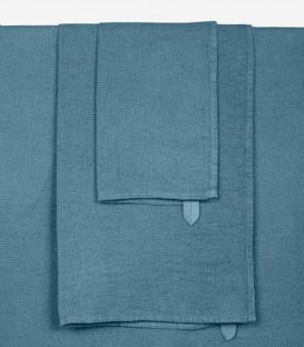 Serviette de Bain Éponge en Lin JAVA couleur Bleu Stone - HARMONY