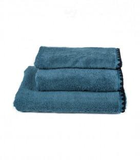 Serviette de Bain Éponge ISSEY couleur Bleu Stone - HARMONY