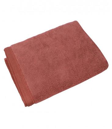 Serviette éponge Gaïa 100% Coton Bio - coloris Rose Fané - Vent du Sud