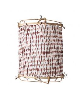 Abat-jour en Bambou et Soie colori mMaroon - 2 tailles