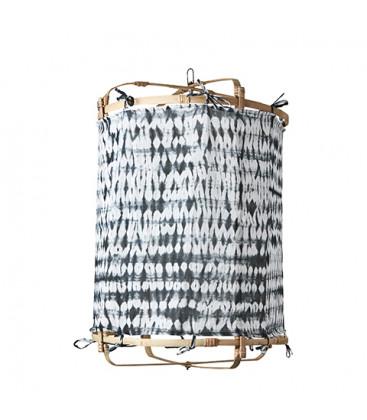 Abat-jour en Bambou et Coton colori Noir - 3 tailles