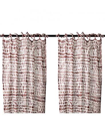 Paire de rideaux coton