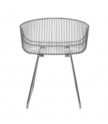 Chaise lounge en métal gris SAIRA - Bloomingville