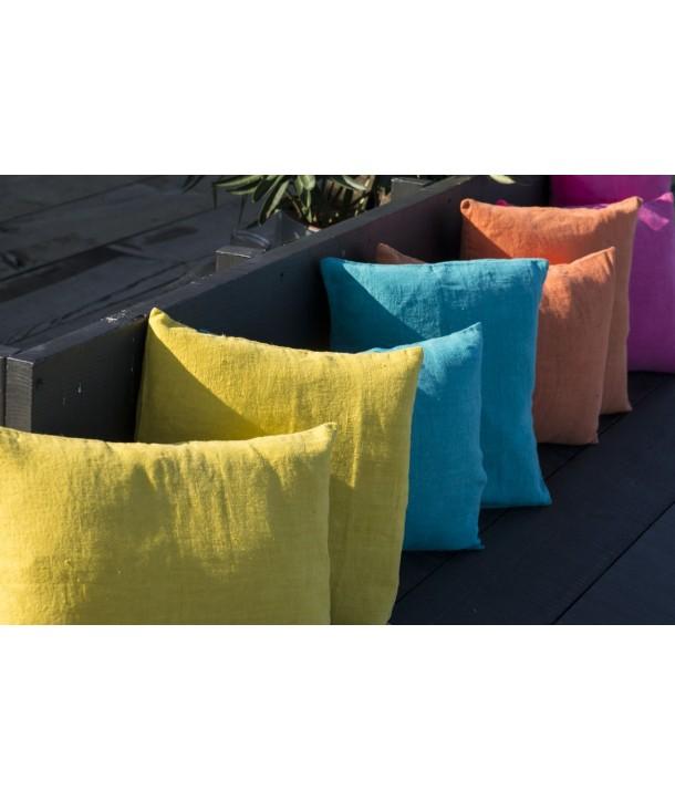 HOUSSE COUSSIN EN LIN LAVE HARMONY PROPRIANO (18 coloris disponibles)