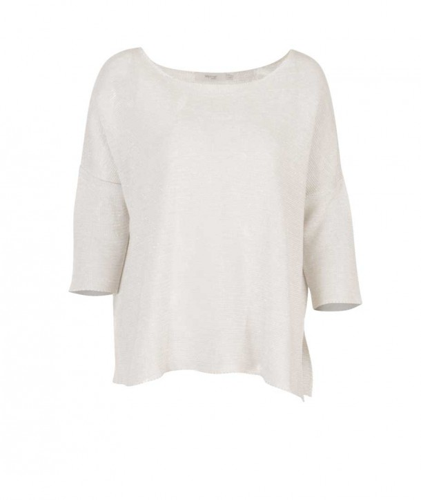 GOLD Pull oversize manche courte - Blanc