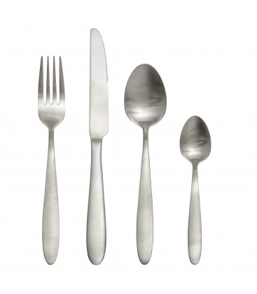 Set de 4 Couverts, Silver, Stainless Steel MARTINE - Bloomingville
