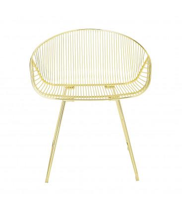 Chaise lounge en métal Gold MALCOM - Bloomingville