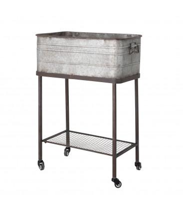 Boîte de stockage/jardinière sur roulettes, Gris, Metal HEIDIMALUCCA - Bloomingville
