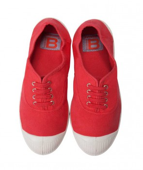 Tennis à Lacets BENSIMON Rouge