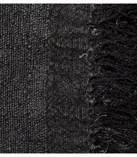 Plaid en lin noir WRINKLES - Dareels