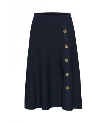 MIMI Jupe Royal Navy Blue - Cream Clothing