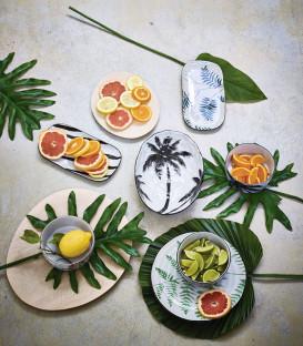 Assiette Palme céramique - HK Living