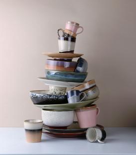 Assiette céramique 70's - HK Living