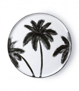 Assiette plate Palmier céramique Diam. 27cm - HK Living