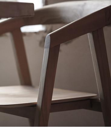 Chaise en teck ARC Naturel - Dareels