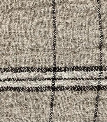Plaid en lin avec rayures WRINKLES - Dareels