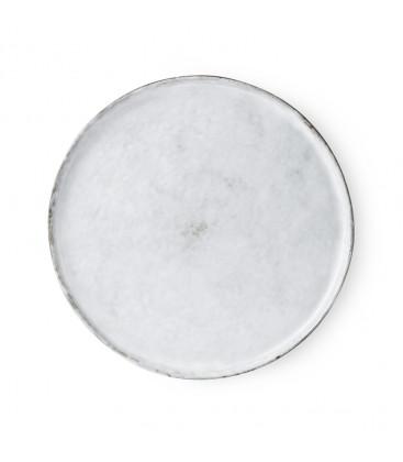Assiette plate Blanc chiné en céramique - HK Living