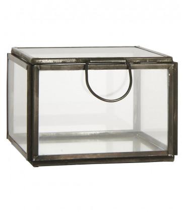 Boîte métal zinc carrée L9,5xH6,8xP9,5