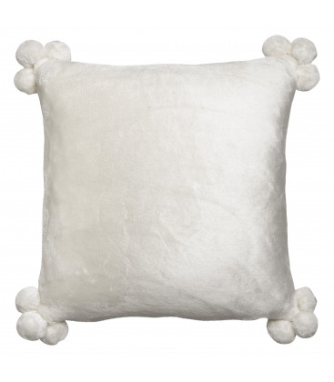 Coussin Tender pompons 45 X 45