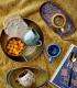 Assiette, Bleu, Grès PAULA - Bloomingville