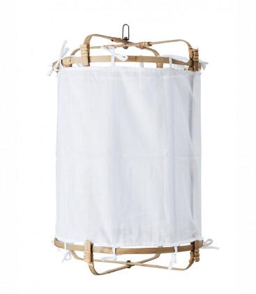 Suspension en bambou et tissu coloris Blanc - 3 tailles - Affari