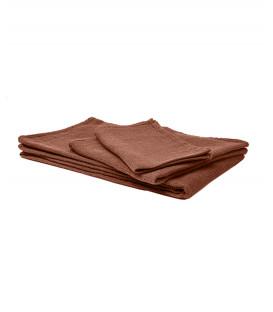 Serviette de Bain Éponge en Lin JAVA couleur Brick - HARMONY